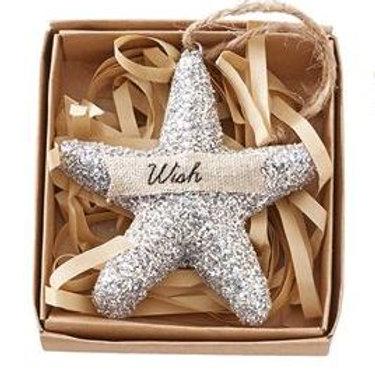 Starfish Glitter Ornament