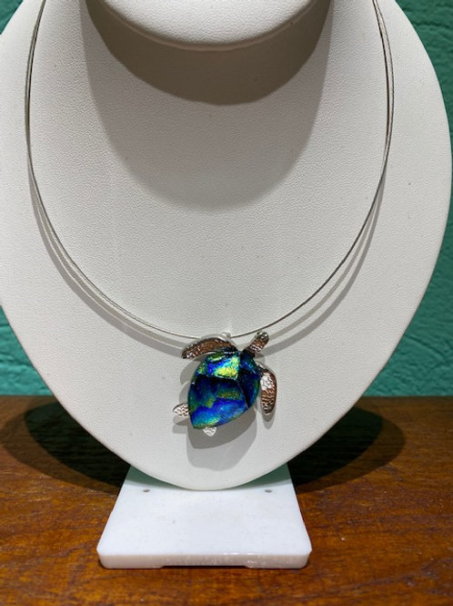 Sea Turtle Glass Necklace