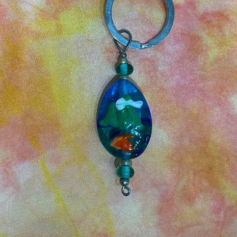 Glass Saba with Cloud Key Chain