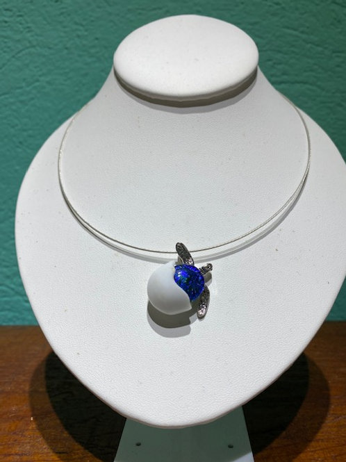 Turtle Hatching Glass Necklace