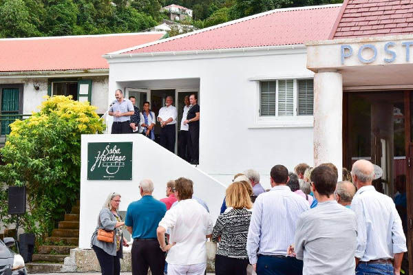 The opening of the Saba Heritage Center in Windwardside - Saba Dutch Caribbean