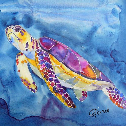 Sea Turtle pillow-Heleen Cornet