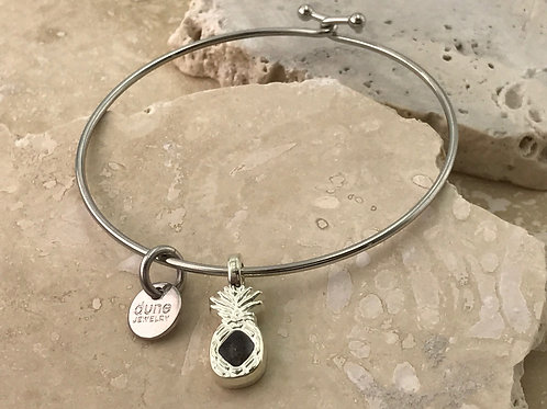 Well's Bay Sterling Pineapple Bangle