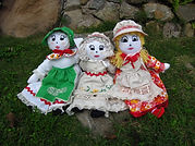 Hand made dolls.