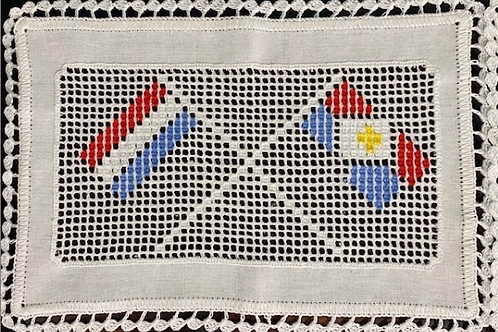 Saba and Dutch Flags Lace Doily
