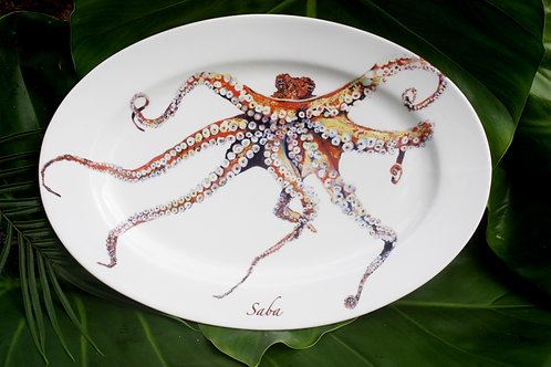 A Platter that Matters--Oval Octopus