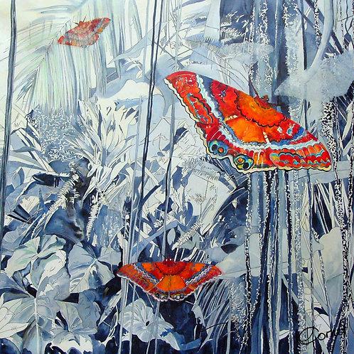 Cloudforest Butterfly napkin-Heleen Cornet