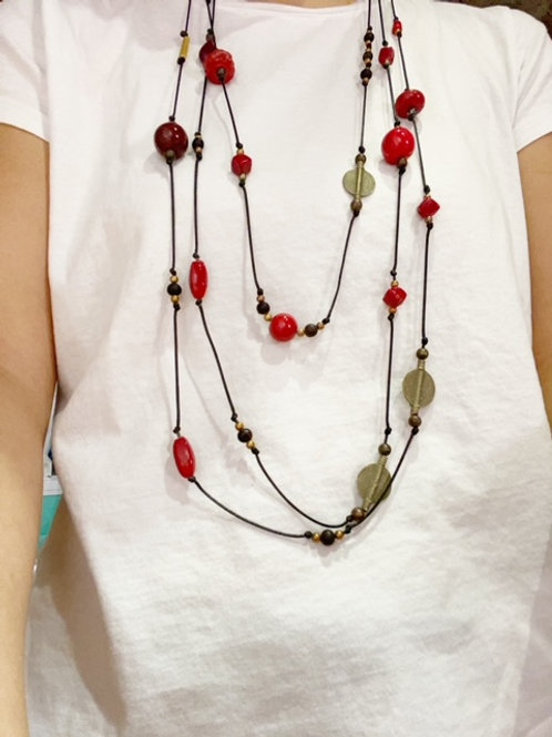 Extra Long Canna Seed Necklace