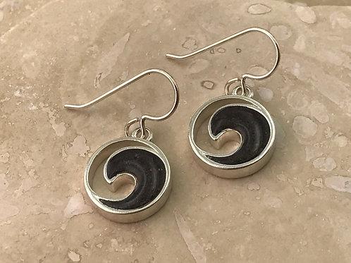 Well's Bay Wave Earrings