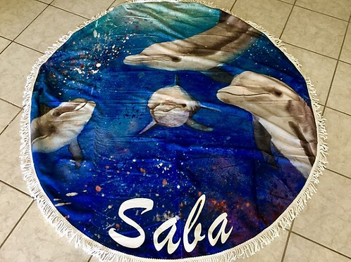 Dolphin Round Towel
