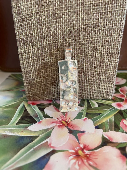 Coral Inspired Rectangular Pendant