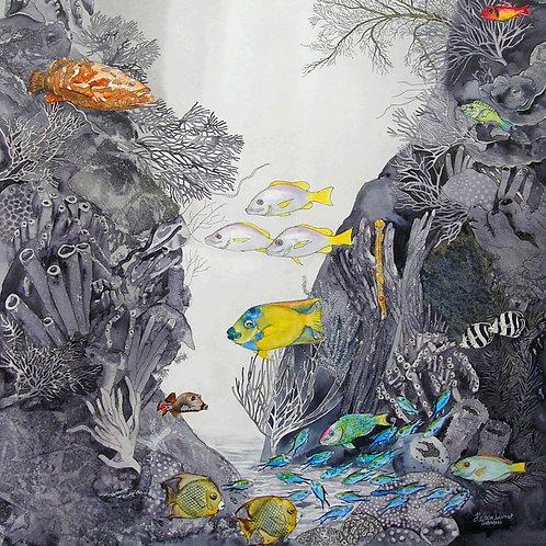 Tent Reef napkin-Heleen Cornet