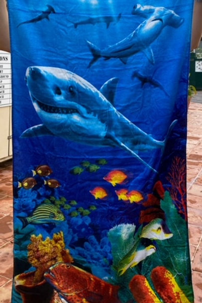 Sea Saba Shark Towel