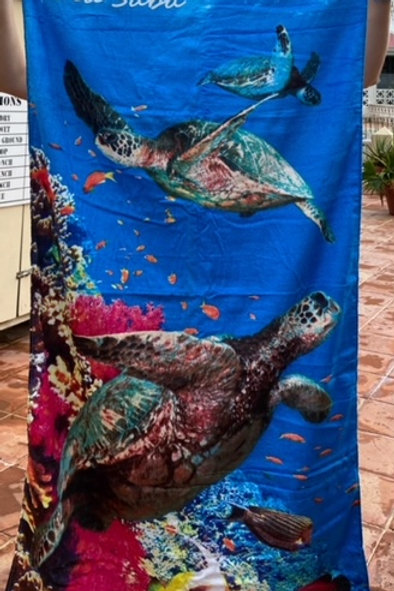 Sea Saba Turtle Towel