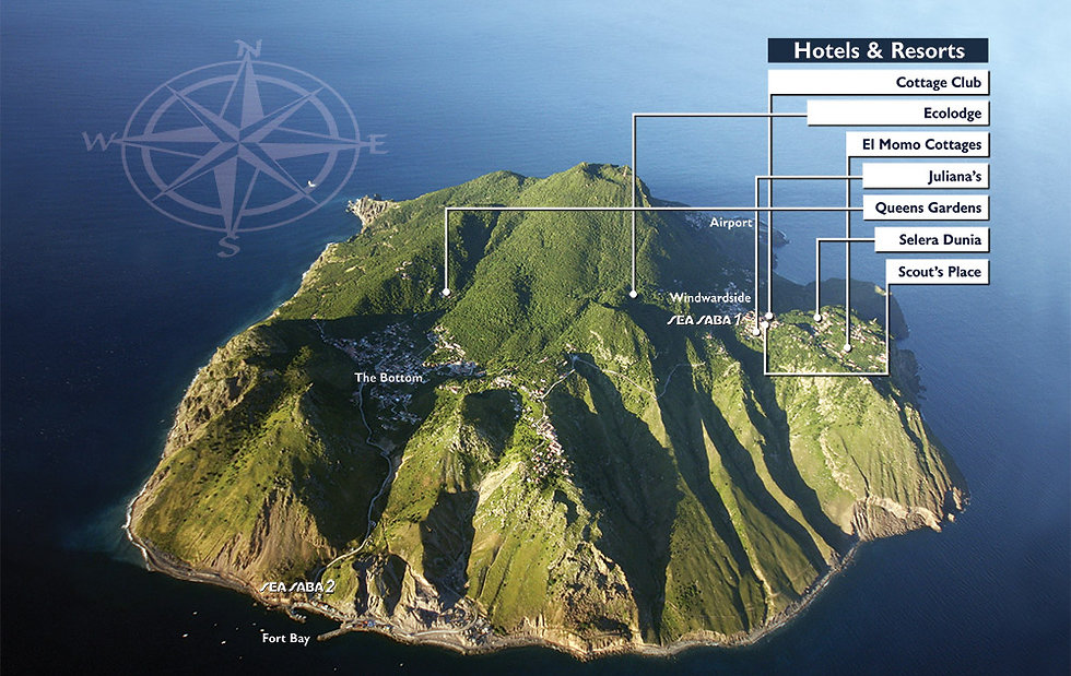 Hotels on theisland of Saba