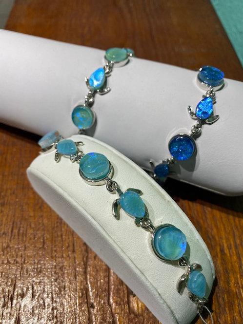 Turtle Link Glass Bracelet