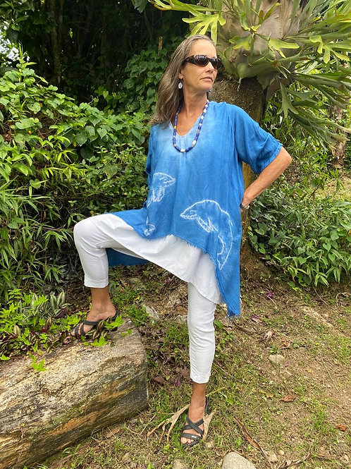 Dolphin Natural Dyed Boho Shirt