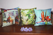 Printed Pillow Cases from local artist Heleen Cornet