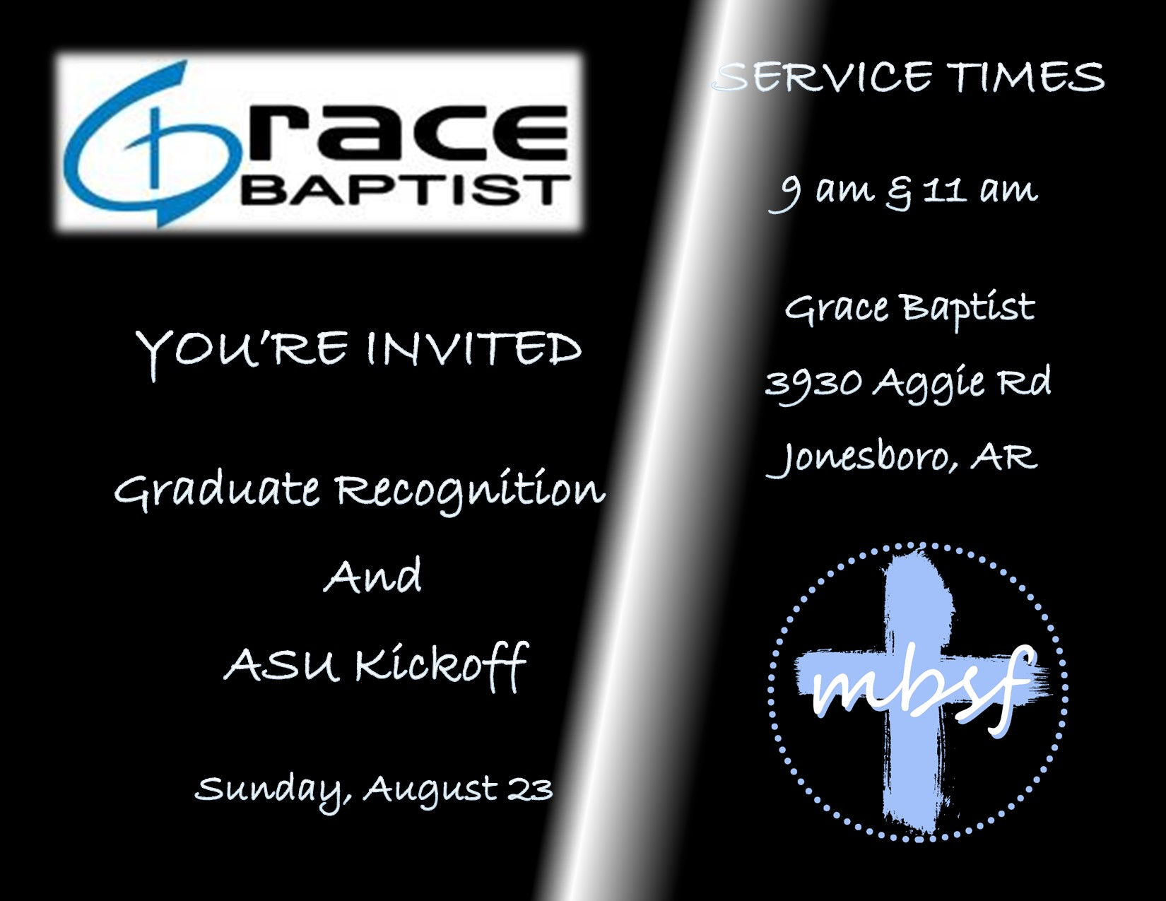 Welcome Back to School @ Grace Baptist