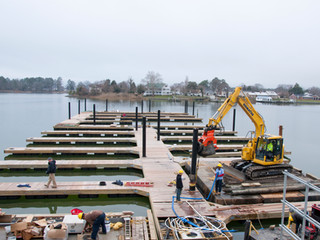 New Floating Docks at Deltaville Marina