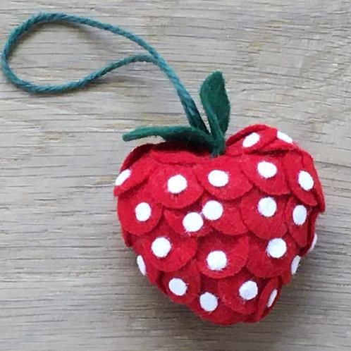 Filzanhänger - Erdbeere