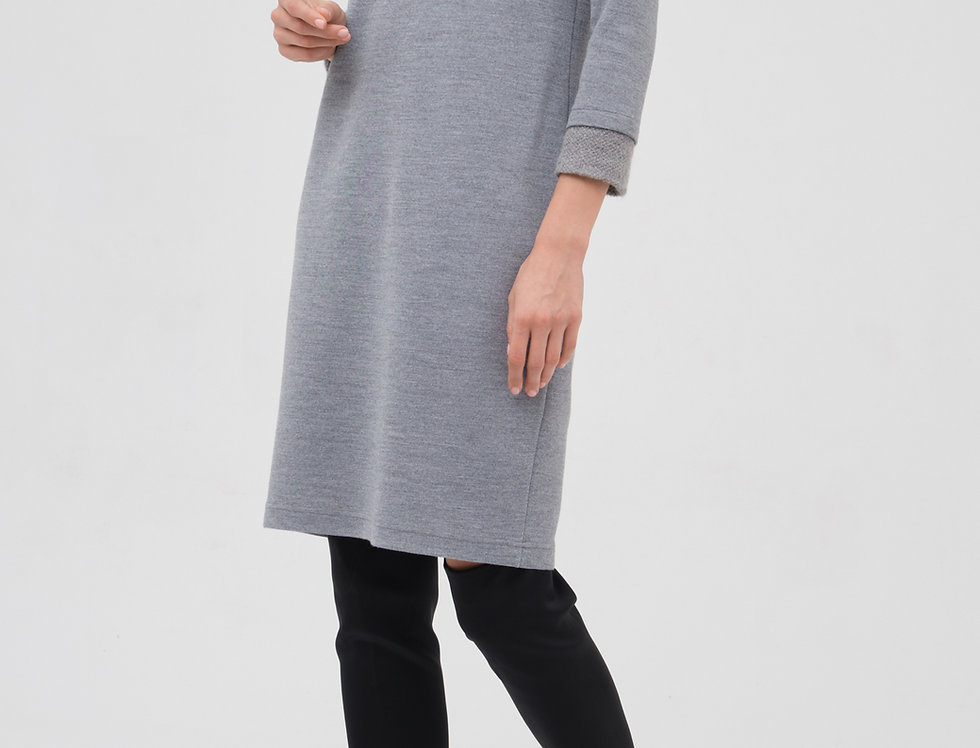 Платье Нефрит серое