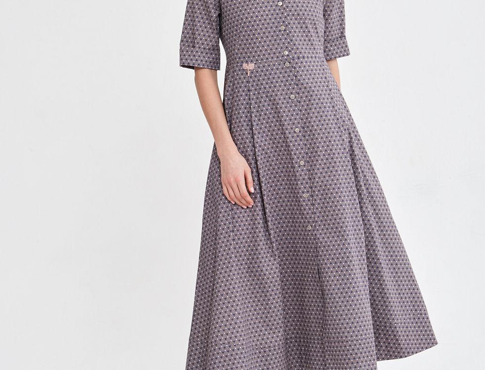 Платье Галери пестрое