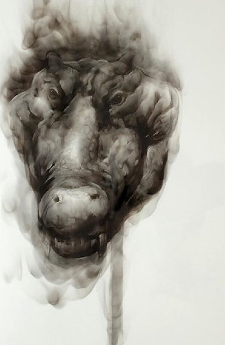 Diane Victor - Smoke Drawing (Crocodile)