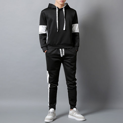 Casual  Jogger Two Pieces Male Sweat Suit