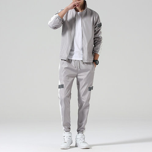 PatchworkMale Casual Two Pieces Track Suit