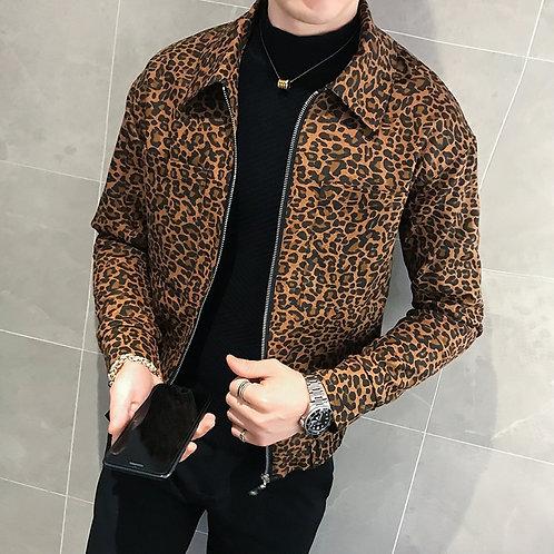 Men Leopard Jacket