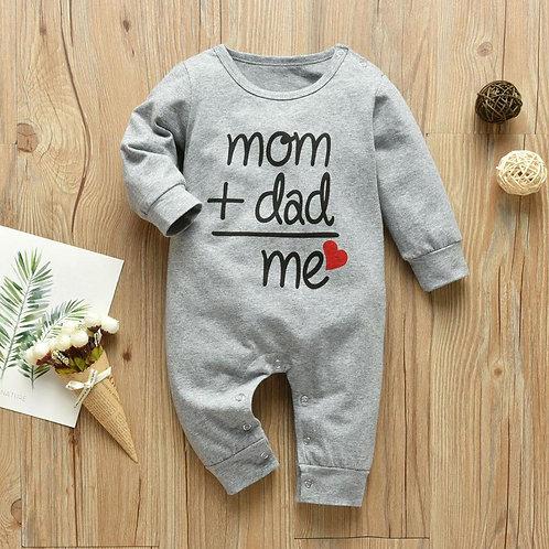 Mom Plus Dad Equal Me Jumpsuit Infant