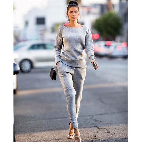 Casual Daily O-Neck Long Sleeve Solid Sets