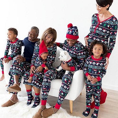 Elk Print Family Matching Sleepwear Pjs Set