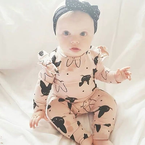 2Pcs Baby Girls Romper