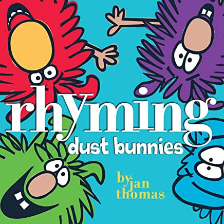 Rhyming Dust Bunnies, children's spring cleaning read aloud book