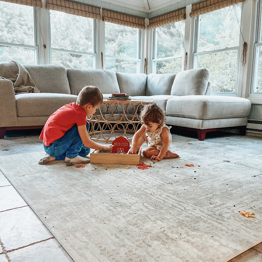 Stylish Famokids play mat, interlocking squares, non toxic play mat