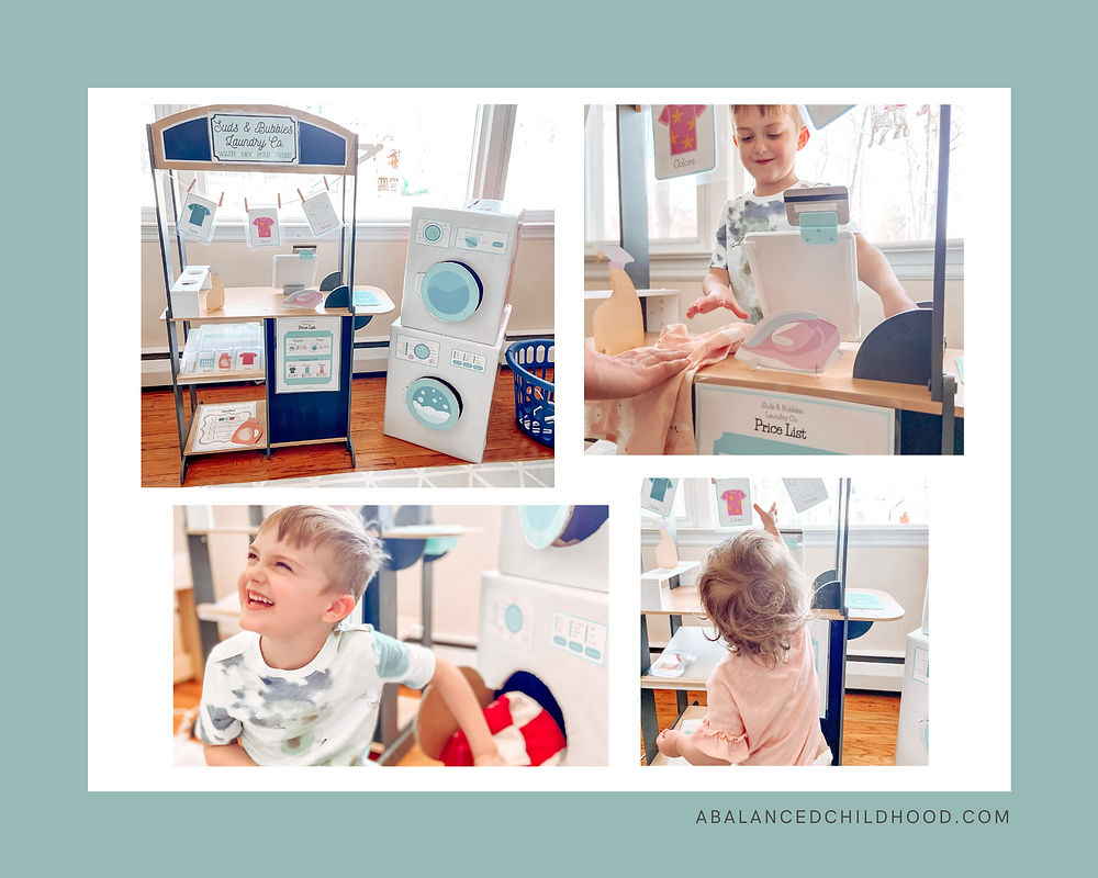 A adorable set of laundry printables available for instant download.  Laundromat/Laundry Dramatic Play/Pretend Play