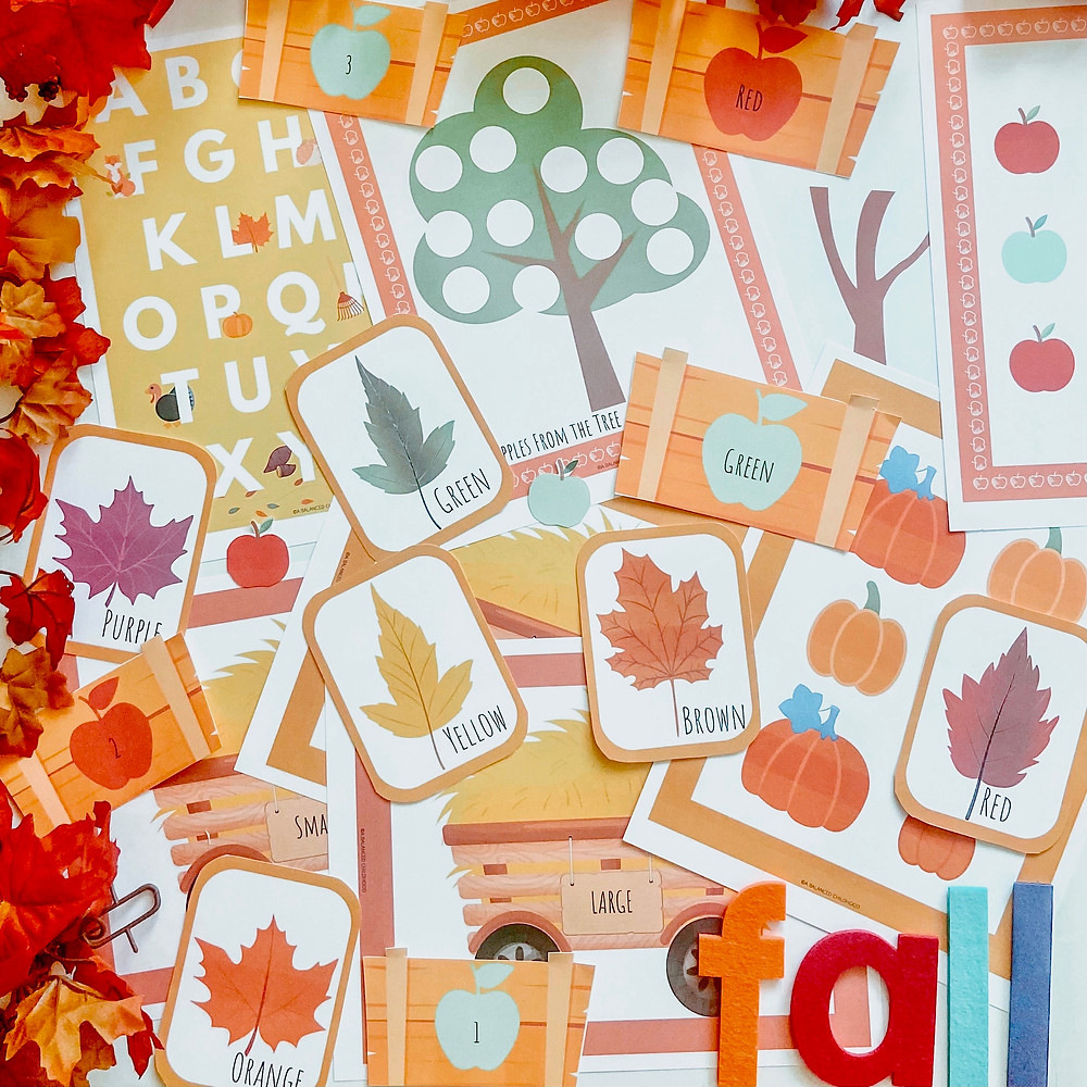 Printable fall activities for preschoolers and toddlers