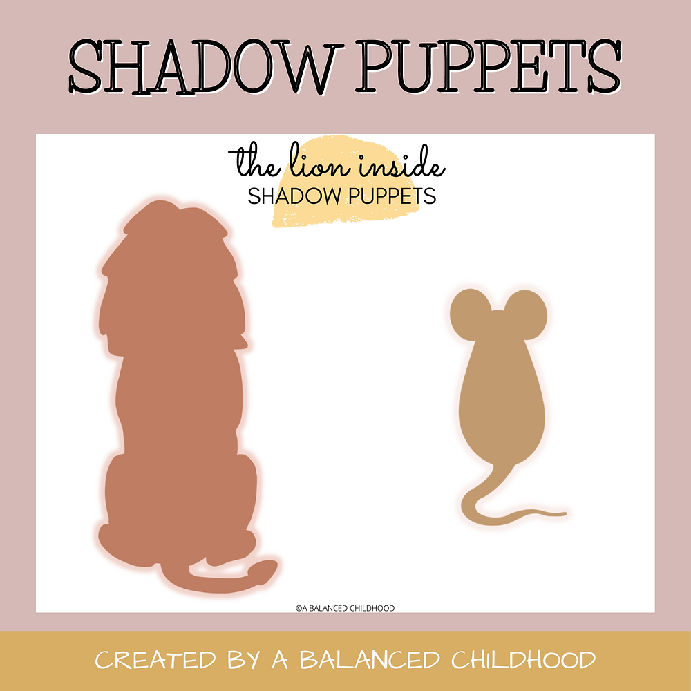 Free Shadow Puppet Printable: Lion and Mouse