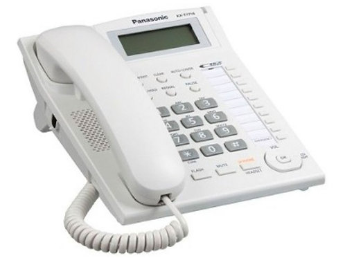 Telefono Unilinea Analogo con Dislpay KX-T7716X BLANCO