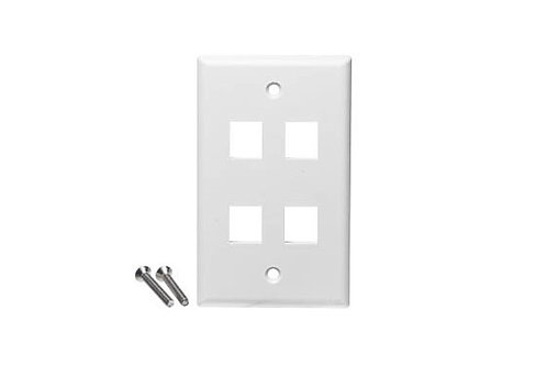 CS 1-2111024-3 FACEPLATE 4p ECONOMICO BLANCO