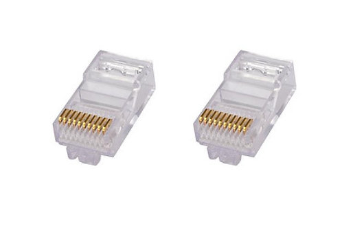 CS 6-554720-3 PLUG RJ45 C5/C3 CABLE PLANO � 2.54x8.89mm