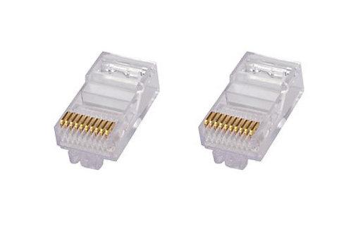 CS 6-554720-3 PLUG RJ45 C5/C3 CABLE PLANO � 2.54x8.89mm