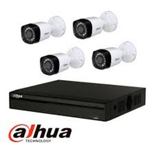 Kit de CCTV DAHUA KIT DVR con 4 camaras