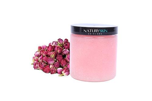 Gommage corporel rose de damas et karité