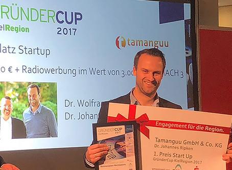 tamanguu awarded 1st Place in the GründerCup Award
