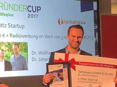 tamanguu awarded 1st Place in the GründerCup Award