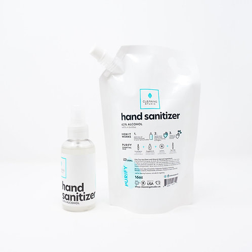 New Hand Sanitizer Spray + Refill Bag - Purify Blend Pack