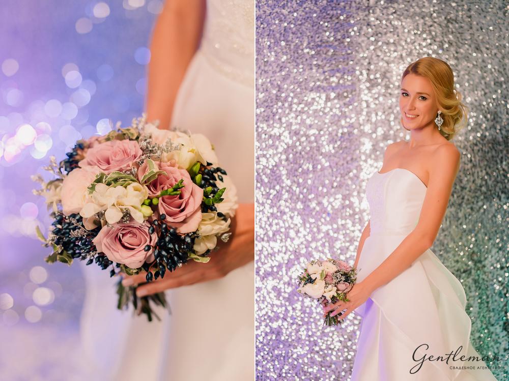 букет невесты серебро